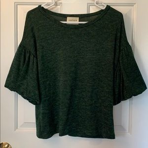 Green sweater with bell sleeves